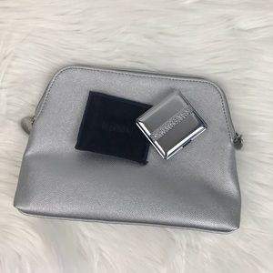 La Prairie makeup bag and compact mirror